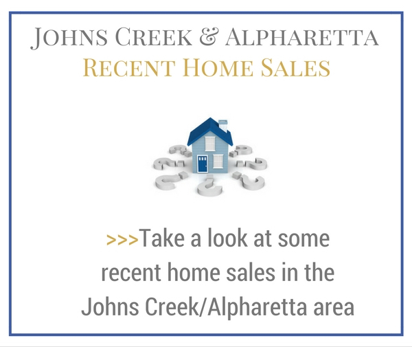 Recent Home Sales Johns Creek